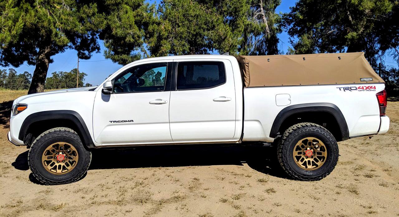 White Toyota Tacoma TRD 3